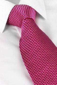 14cf9174fbcb We love this Chevron pattern on this raspberry pink and fuchsia tie. Bold &  lively