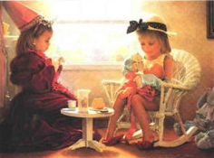 ❤ One of my favorite things: Title Unknown - Painting by Greg Olsen Greg Olsen Art, Sisters Forever, Sound Of Music, Coloring Pages, Grandma's House, Memories, Brush Strokes, My Favorite Things, Children