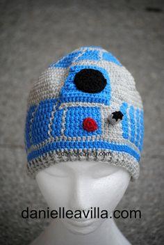 """Gehäkelte Mütze """"R2D2"""" Star Wars von Danielle Avilla - Häkel mit brasilianischen Stil auf DaWanda.com"""