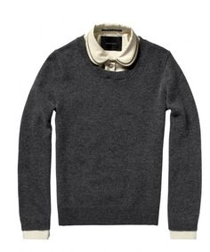 KNITTED SWEATER WITH REMOVABLE ZIP-TRIMMED COLLAR #Maison Scotch