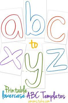 Printable lowercase ABC alphabet templates + easy preschool educational activity ideas!