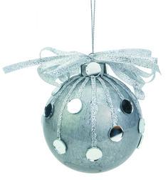 Nicole™ Crafts Silver Mirror Ball Ornament #ornaments #craft #christmas