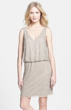 Beaded Jersey Blouson Dress @nordstrom