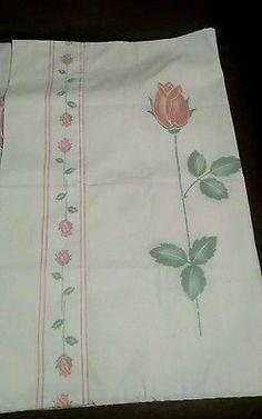 Vintage Stevans Floral Rose Pillowcases-2