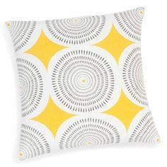 Kissenbezug aus Baumwolle, gelb/grau, 40 x 40cm, HELICONIA