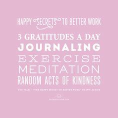 Happy Secrets to Better Work - Shawn Achor via valmariepaper.com  LOVE THE TEXx talk with #shawnanchor