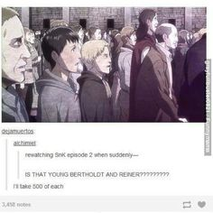 If Berthold and Reiner we're there then who is the Collosal Titan?