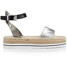 Love Moschino Espadrille Flatform Sandals found on Polyvore featuring shoes e0f50f001e6
