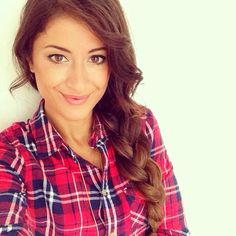 Plaid & a side braid.