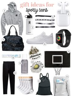 Christmas Gifts For Teen Girls, Gifts For Teen Boys, Tween Girl Gifts, Sporty Christmas Gifts, Teenage Gifts, Teenage Girl Birthday Gifts, 13th Birthday Party Ideas For Teens, Sporty Teen, Cool Gifts For Teens