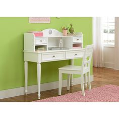 Have to have it. Kaleidoscope Desk - Linen White - $308 @hayneedle