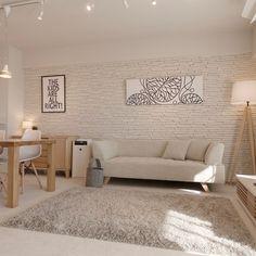 Room Interior, Home Interior Design, Scandinavian Design, Scandinavian Living, Room Colors, My Room, Small Spaces, Love Seat, House Design