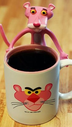 Pink panther & coffee