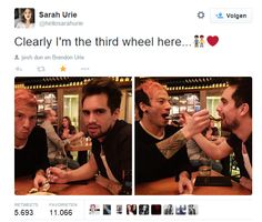 Best tweet ever hahah. Josh Dun and Brendon Urie
