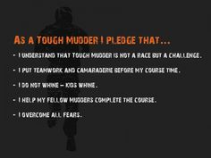 Tough Mudder Pledge. I'm so excited for this event coming to Nevada in October 2012! I'm doing it!! WhooHooo!!
