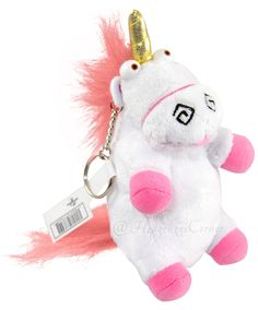 "Authentic Despicable Me Fluffy Unicorn Plush Keychain 6"" Minion Mayhem NEW http://www.bonanza.com/listings/Authentic-Despicable-Me-Fluffy-Unicorn-Plush-Keychain-6-Minion-Mayhem-NEW/179861737"