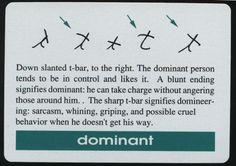 Dominancy sign in handwriting.