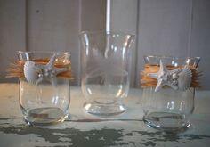 ShoreChic™ Etched Glass Starfish Hurricane Sand Ceremony Set Small