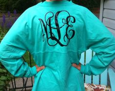 Monogrammed Prep Jersey - NEW COLORS AVAILABLE - Personalized - We have glitter lettering too!