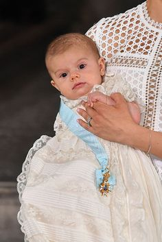 Prince Oscar of Sweden on his christening day Friday May 27, 2016.