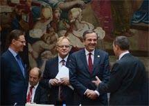 Premier Samaras bei EU-Konferenz für die Jugendarbeitslosigkeit in Paris