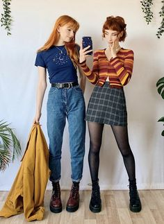Retro Outfits, Cute Casual Outfits, Vintage Outfits, Summer Outfits, Cute Fashion, 90s Fashion, Fashion Outfits, Thrift Fashion, Aesthetic Fashion