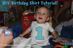 DIY Appliqued Birthday Shirt Tutorial! Inexpensive and Easy!