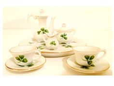 Vintage Tea Set Miniature Doll House by cleardiscounts on Etsy, $4.50