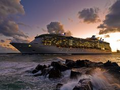 Independence of the Seas departs Ft Lauderdale at Dusk - Andrew Quested