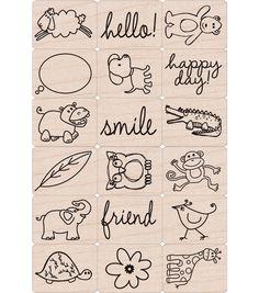 Hero Arts Ink 'n Stamp Tub-Happy Animals, , hi-res