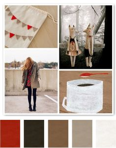neutrals + red = the perfect palette. need the gray brown wall color for my guest room!