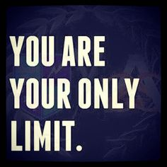 you stand between your goal, no one else. you have to make the choice to stand up