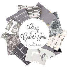 Grey ColorFUN Fat Quarter Bundle Art Gallery Fabrics - Fat Quarter Bundles | Fat Quarter Shop