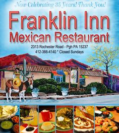 Franklin Inn Mexican Restaurant in Pittsburgh Best in the North Hills