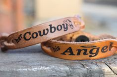 Her Cowboy, His Angel Bracelets | iwanttomarryacountryboy  Definitely gonna get us these. (: