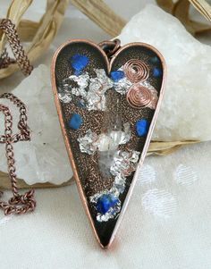 Copper Valentine Heart Orgone Positive Life Force by LKSoriginals