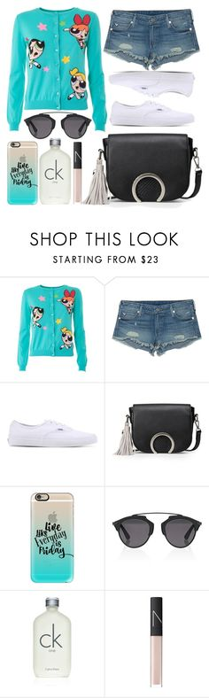 """""""street style"""" by sisaez ❤ liked on Polyvore featuring Moschino, True Religion, Vans, Casetify, Christian Dior, Calvin Klein and NARS Cosmetics"""