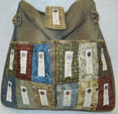Button Angel Flower patch bag
