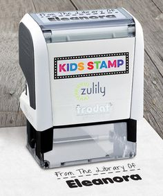 Love this Black Ink 'From the Library of ___' Personalized Stamp on #zulily! #zulilyfinds