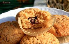 Muffin all'arancia con cuore di cioccolato fondente