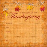 Free Printable Thanksgiving Invitation Template Free Printables - Thanksgiving party invitation templates