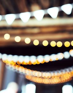 Love this photo of blurred party lights