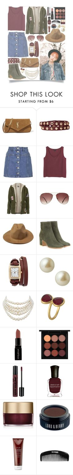 Because of you, I'm becoming ruined. by schnpri on Polyvore featuring Monki, Topshop, Gianvito Rossi, Yves Saint Laurent, La Mer, Christian Dior, Linea Pelle, Carolee, Karen Kane and Bling Jewelry