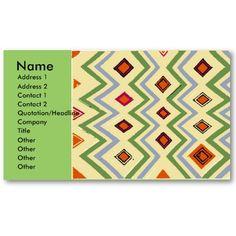 Orange Diamonds Business Card Template
