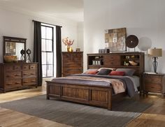 •Rustic style beds made for Acacia and Select Hardwoods with a hand scraped Vintage Acacia finish •Optional storage bed rails. •Bookcase and panel headboards available •Stand alone bookcase headboard features a centered sliding door and halogen touch light. •Storage drawers include 5 piece construction with full extension heavy drawer slides Collection Features: The Wolf Creek Collection by Intercon adds rustic beauty to your home with its unique hand scraping and Vintage Acacia finish…
