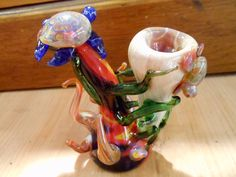 Glass Pipe - Turtle pipe - Glass Turtle Pipe. $95.00, via Etsy.