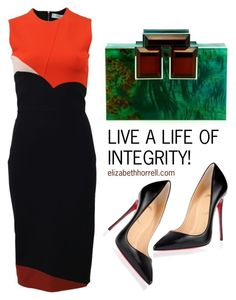 """LIZ"" by elizabethhorrell ❤ liked on Polyvore featuring Christian Louboutin, Victoria Beckham and Rauwolf"