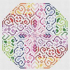 Resultado de imagen para mandalas con hama beads #mandalascalados