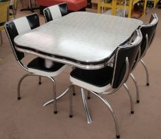 Restored Starburst Formica Kitchen Table Dinette Set w/Rec Chair with <3 from JDzigner www.jdzigner.com