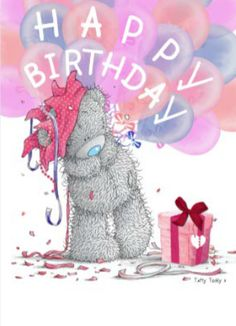 eladvi's Happy Birthday 🎂 images from the web Happy Birthday Blue, Birthday Wishes For Kids, Birthday Tags, Birthday Wishes Cards, Happy Birthday Messages, Bear Birthday, Happy Birthday Images, Happy Birthday Greetings, Birthday Greeting Cards